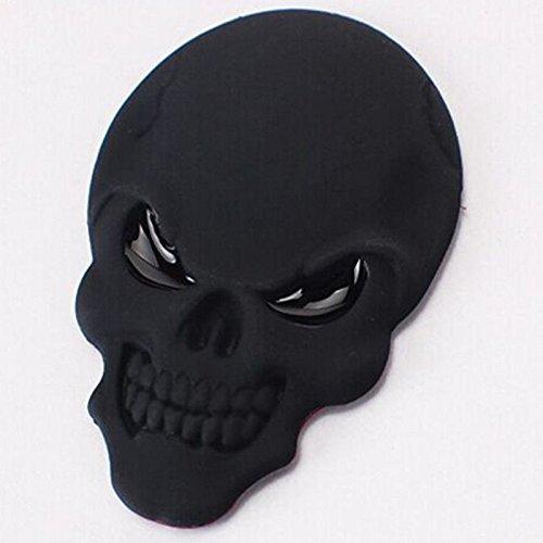 SKS Distribution® Noir diable démon Masque de squelette crâne 3D autocollant de voiture Motif emblème Badge en