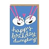 Ohh Deer - Bilgietto Di Auguri 'Happy Birthday Dumpling' (Taglia unica) (Blu/Bianco/Rosa)