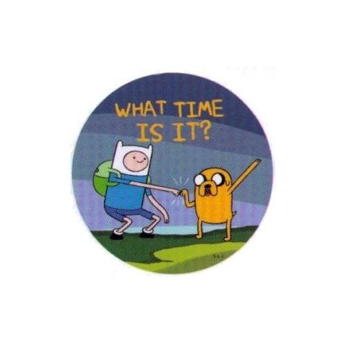 Adventure Time Wchapeau Time Is It 1.25 Inch brochesÂ