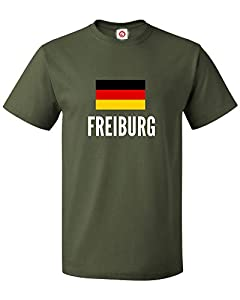T-shirt Freiburg city Green