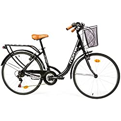 """Moma Bikes Bicicleta Paseo SHIMANO City Classic 26"""", Aluminio, 18V"""