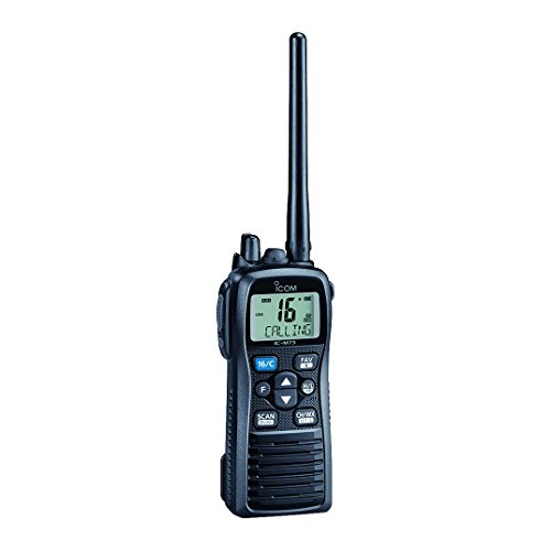 Icom M73 Handheld VHF - 6 Watts - IPX8 Submersible - Black Icom Handheld