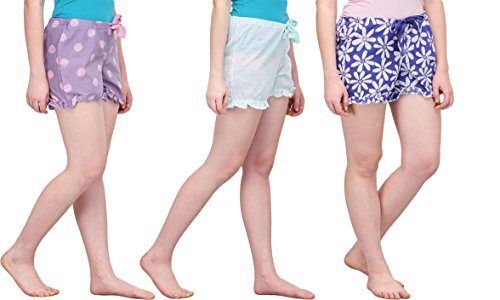 KOTTY Every night Sleep shorts for women in 3pc Set