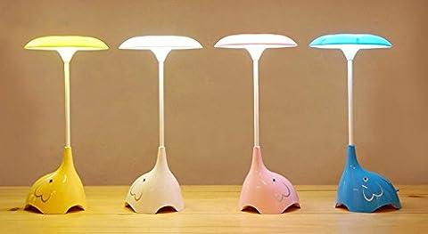 Lampe de table LED Elephan lampe de chevet pour enfants Luminosité à 3 niveaux Étude lumière de lecture Pink