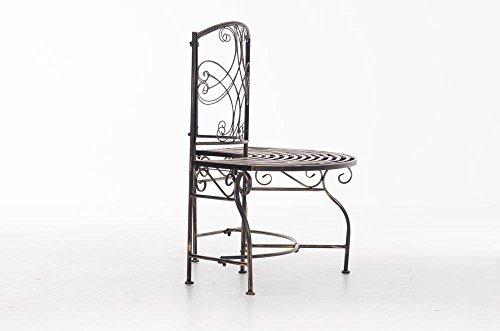 CLP Metall Eckbank / Gartenbank LORENA, Baumbank Design nostalgisch antik, Eisen lackiert, ca. 140 x 60 cm Bronze - 4
