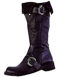 Diseño de botas de cuero en negro