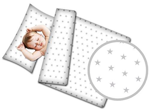 Kinderbett-set Weiße Baby-bettwäsche (Kinderbettwäsche Babybettwäsche 90x120 Komplett für Kinderbett Komplettset Bettwäsche Bezug 2 Tlg. (Weiß))