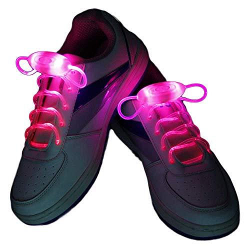 Leuchtend Schnürsenkel 2 Paare Einstellbar LED Schnürsenkel Leucht Schuhband, Party Neuheit Verkleiden Dekor (Rosa) (Rosa Karneval Dekorationen)