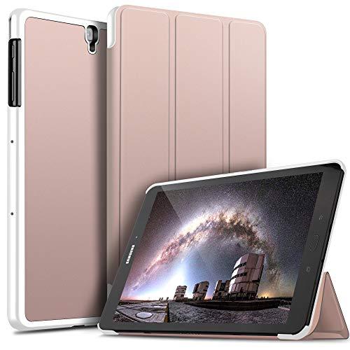 ELTD Custodia Cover per Samsung Galaxy Tab S3 9.7, Pelle con Funzione di Stand Flip Copertina Smart Case Cover per Samsung Galaxy Tab S3 9.7, Oro Rosa