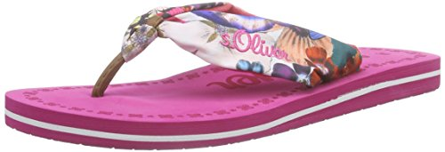 s.Oliver Damen 27103 Zehentrenner Pink (FUXIA 532)