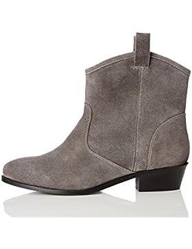 FIND Damen Cowboy-Stiefel aus Veloursleder
