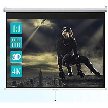 16:9 Rolloleinwand Slender Line 200 x 112 Beamer Leinwand FULL-HD 4K 3D tauglich