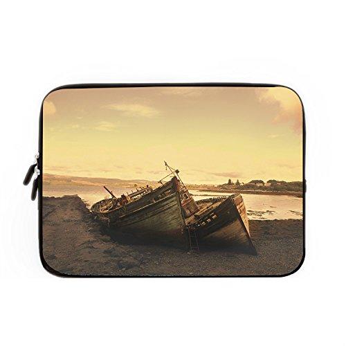 hugpillows-laptop-hulle-tasche-boot-strand-landschaft-notebook-sleeve-cases-mit-reissverschluss-fur-