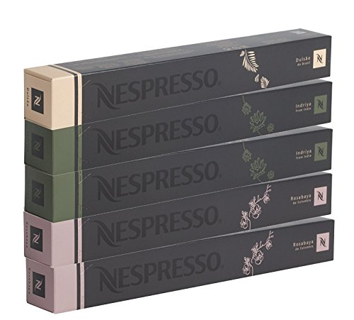 Nespresso Sortiment, 50Kapseln originali- 20x Rosabaya de Colombia, 20x Indriya, 10x Dulsao do Brasil