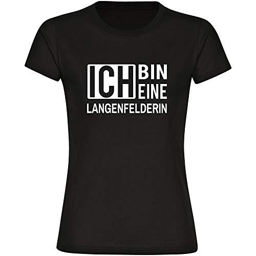 T-Shirt ich Bin eine Langenfelderin schwarz Damen Gr. S bis 2XL, Größe:S