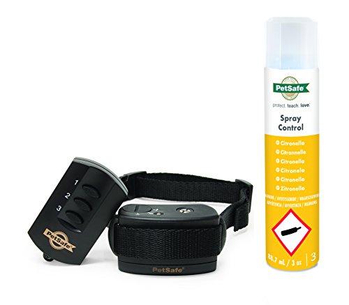 *PetSafe Hunde Spray Erziehungshalsband mit Fernbedienung, 85m Radius, umweltfreundliches Zitronella Spray, Hunde 3,6kg+*