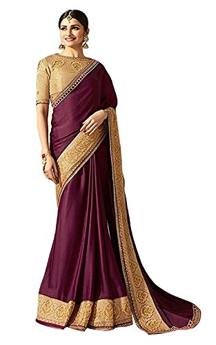 Magneitta Silk Saree With Blouse Piece (97073_Brown_Free Size)