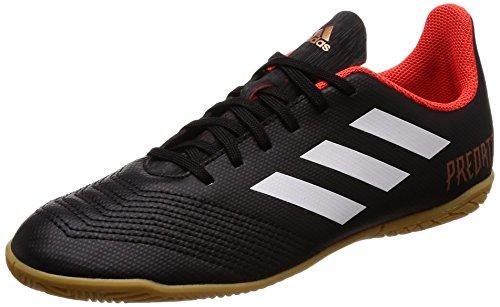 Adidas Predator Tango 18.4 in J, Zapatillas de Fútbol Sala Unisex Niño, Negro (Negbas/Ftwbla/Rojsol), 32 EU