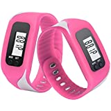 Sandistore LCD Run Step Pedometer Walking Distance Calorie Counter Run Walking Distance Fitness Trackers