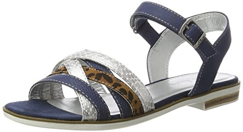 s.Oliver Mädchen 58208 Offene Sandalen mit Keilabsatz, Blau (Navy 805), 36 EU
