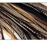"""Sexy Sparkles nueva 7""""-11"""" de plumas extensión de pelo, rubio S Grizzly featehrs (5plumas Bonded en la punta)"""