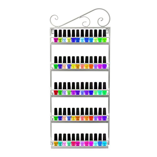 Display-regal (Dazone® 5-tier Metall Herz Nagellack Organizer Aromatherapie und ätherischen Ölen Regal Lippenstiftständer Aufbewahrung (Weiß))