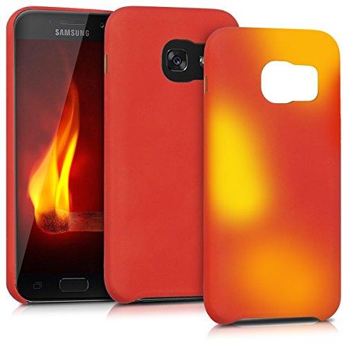 kwmobile Samsung Galaxy A3 (2017) Hülle - Handyhülle für Samsung Galaxy A3 (2017) - Handy Case in Rot Gelb