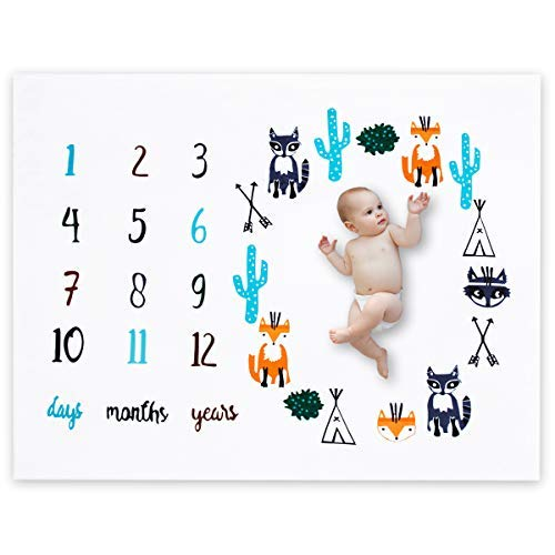 FLY SPRAY Baby Monthly Milestone Blanket Photography Props Backdrop for Newborn Photo Prop.