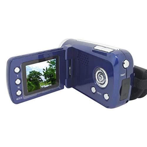 GKKXUE Cámara Digitaler videocámara grabadora de vídeo portátil 4X Pantalla de Digitaler Zoom 16 millones de grabadoras de vídeo al aire Libre para EL hogar (Color : Azul)