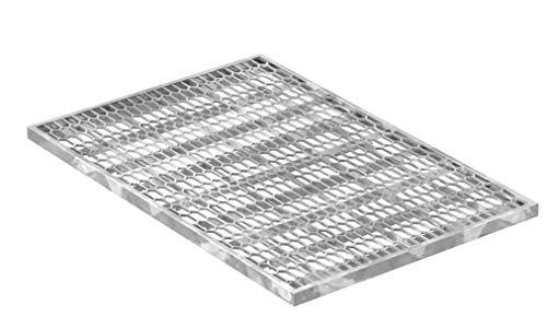 Fenau | Caillebotis/Grille de métal déployé - Dimensions: 390 x 590 x 20 mm - galvanisée, cadre: 400 x 600 x 23 mm)