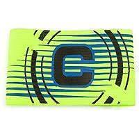 JERKKY Capitán de fútbol Brazalete elástico Brazo Ajustable Líder de fútbol Competición Fútbol Fluorescente Verde