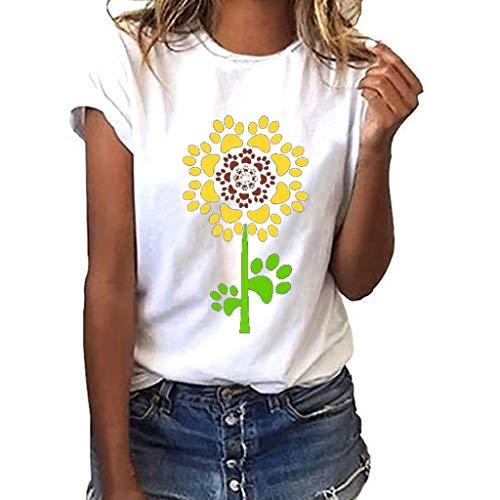 Mädchen Drucken T-Shirt Freizeit O-Kragen Kurze Ärmel Top - T-shirt Folie Drucken