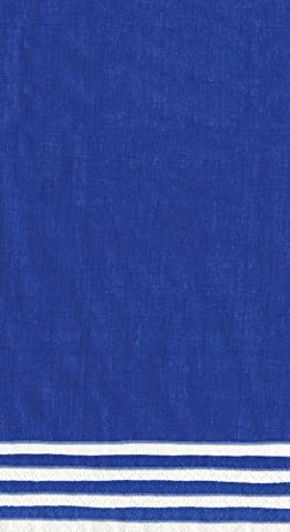 Caspari Stripe Border Paper Guest Towels, Pack of 15, Blue