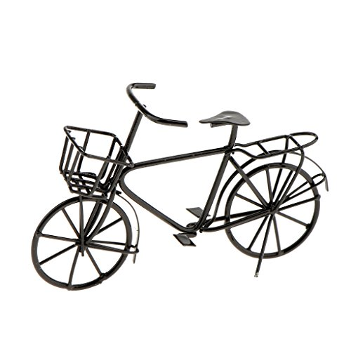 Sharplace 1:12 Miniatur Puppenhaus Möbel - Metall Fahrrad Bike Modell - 8,2 x 4,5cm - Schwarz