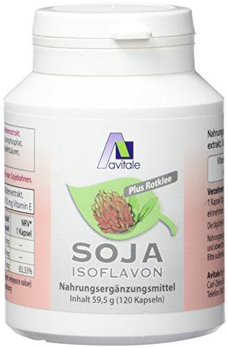 Avitale Soja Isoflavon Kapseln 60 mg + E, 120 Stück, 1er Pack (1 x 59,5 g)
