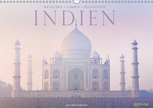 Indien: Menschen Farben Religionen (Wandkalender 2019 DIN A3 quer): 12 farbenprächtige Bilder aus Indien (Monatskalender, 14 Seiten ) (CALVENDO Orte)