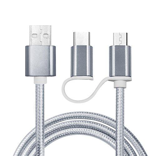 2-in-1-ladekabel-12m-kabel-nylon-umflochtenes-micro-auf-type-c-usb-ladegert-fr-samsung-s5-s6-s7-und-