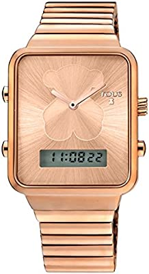 Reloj digital Tous I-Bear 7003550130 de acero IP Rosado
