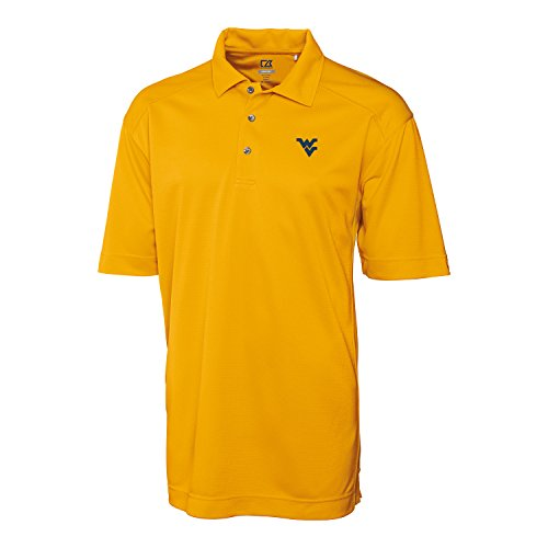 Cutter & Buck NCAA West Virginia Mountaineers Men's Genre Polo Shirt, College Gold, X-Large