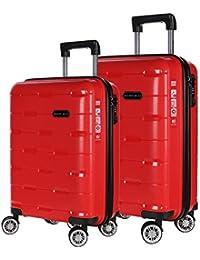 2230e6fbba83 Nasher Miles Santorini PP Hard-Sided Luggage Set of 2 Trolley Travel Tourist
