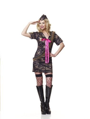 Sofias Closet Damen Army Girl Outfit Camouflage Fancy Full Kostüm Sexy Party Kleid (Childrens Fancy Kleider Kostüme)