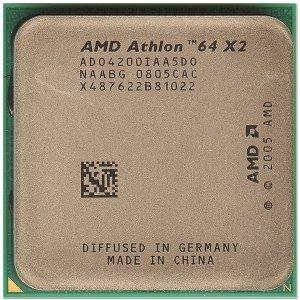 AMD Athlon 64 X2 4200 + Brisbane 2.2GHz 2 x 512KB L2 Cache Socket AM2 65W Dual-Core-Prozessor (Prozessor Amd Athlon 64 X2)