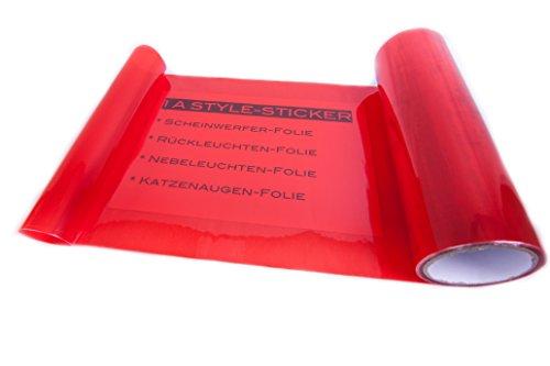 1A Style Sticker Rückleuchtenfolie Rot 100 x 30cm Folie Scheinwerfer - Rückleuchten - Red Vinyl Tint New Look
