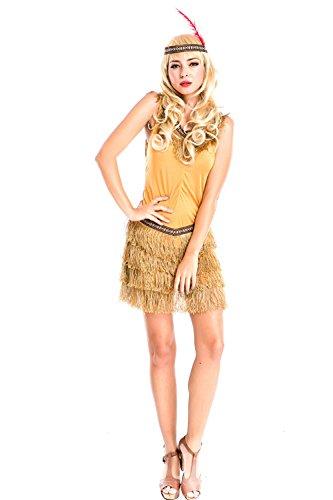 Kostüm Stamm - LLY Europäische und amerikanische Stammes-Jäger Kostüm-Spieluniformen Cosplay Kostüm Halloween-Party