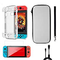 terferein 4-in-1 Game Switch Storage Bag,Game Switch Accessories Protector case with new material process,clear crystal box,clear visual effect,highly flexible protective