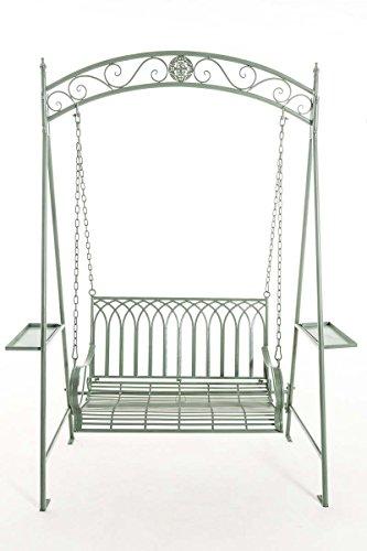 CLP Garten Hollywoodschaukel YLENIA, 2 Sitzer / 3 Sitzer, Landhaus-Stil, Metall (Eisen), bis zu 6 Farben wählbar antik-grün - 2