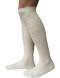 LARGAS calcetines calcetines para calcetines hasta la rodilla pantalones de cuero Bund Naturaleza (44-46)