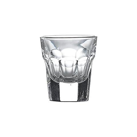 Genware NEV-56037 Morocco/Aras Shot Glass, 3 cl/1 oz. (Pack of 6)