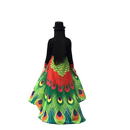 Lazzboy Kostüm Zubehör Weiche Stoff Pfau Flügel Schal Fee Damen Nymphe Pixie(M,Rot)