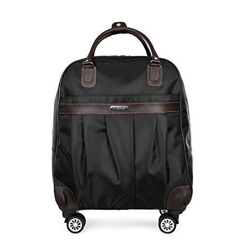 20''Trolley Case 4 Wheels Business Trip Reise-Outdoor-Koffer Koffer Reisetaschen Leichte Drag-Bag-Deichsel-Box-Handtasche-Kofferraum-Rucksack (Color : Black, Size : 20 INCHES) -